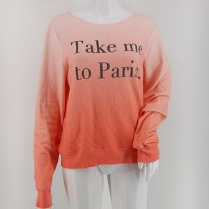Wildfox Take Me to Paris Ombre Pullover Sweater M